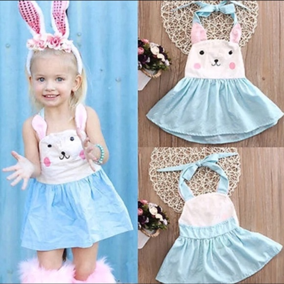 18a43f187 Dresses | Boutique Girls Easter Bunny Halter Dress | Poshmark